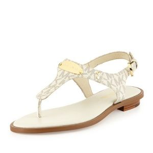 MICHAEL Michael Kors Logo-Plate Leather Sandal